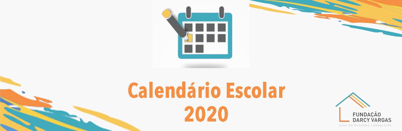 calendario escolar 2020 banner